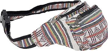 BLACK /& WHITE HIPPIE BUMBAG Festival Fanny Pack Holiday Travel Walk Belt Boho