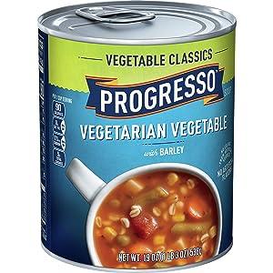 Progresso Vegetable Classics Soup, Vegetable Barley, 19 oz (Pack of 6)