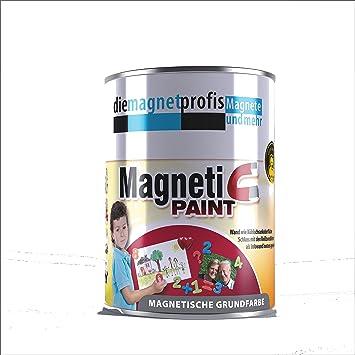Pintura magnética para pared, apto para alérgicos, prueba magnética de neodimio, 1 L, color gris