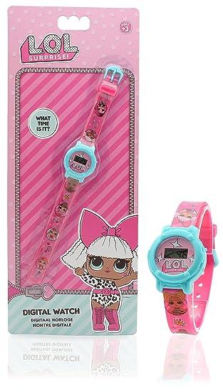 Reloj Digital para niñas con Esfera y Correa de Reloj Redonda, Accesorios