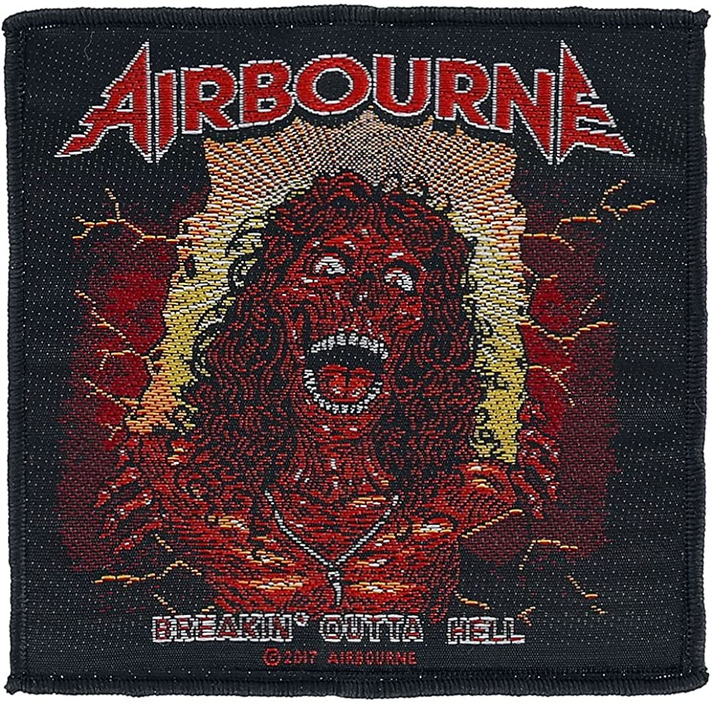 Airbourne Breakin outta hell Patch Mehrfarbig
