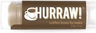 product image for Hurraw! Coffee Bean Lip Balm, 4.8g/.17oz: Organic, Certified Vegan, Cruelty and Gluten Free. Non-GMO, 100% Natural Ingredients. Bee, Shea, Soy and Palm Free. Made in USA