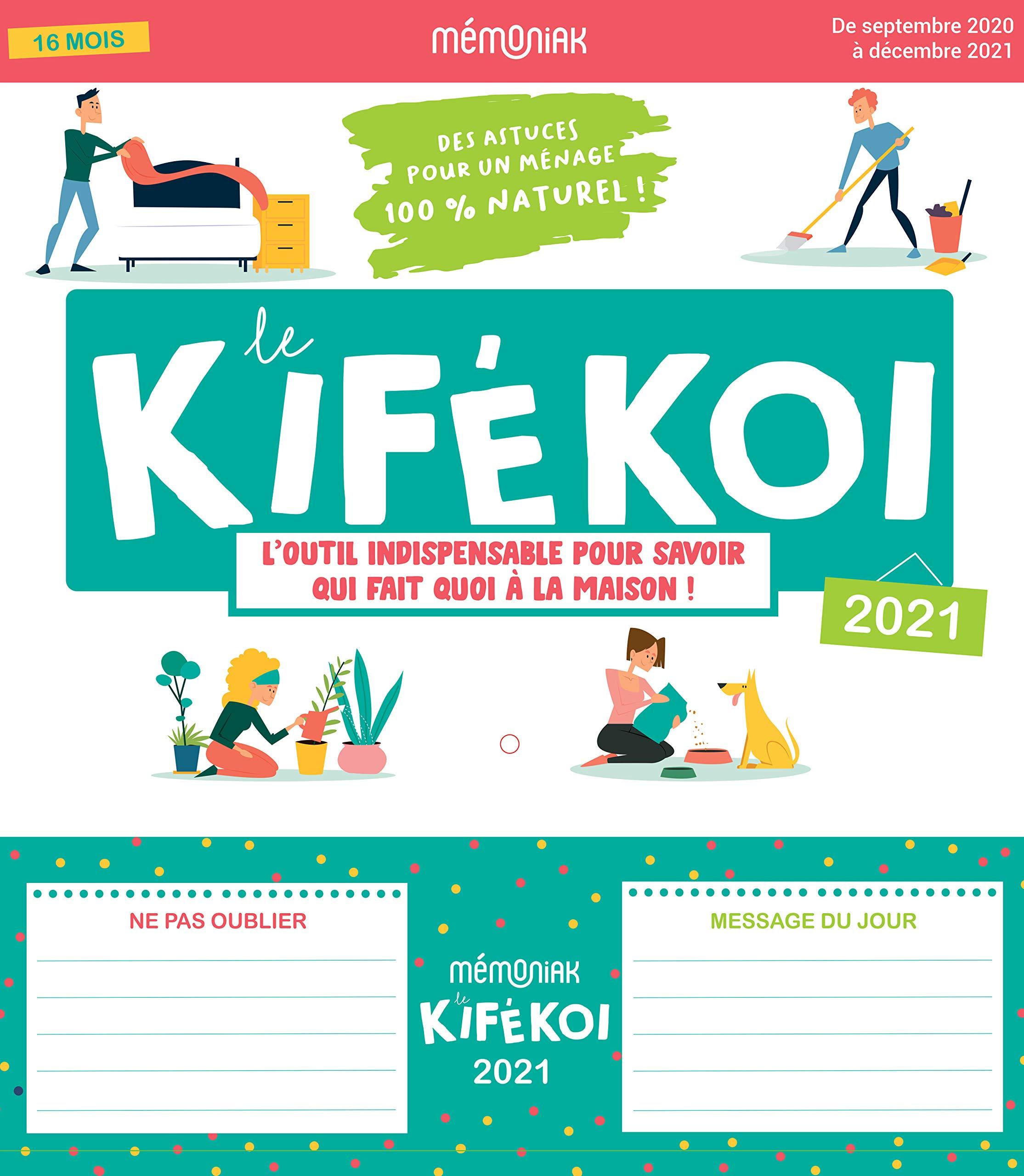 Kifékoi 2020 2021 (ORGANISEURS FAMILIAUX MEMONIAK) (French Edition
