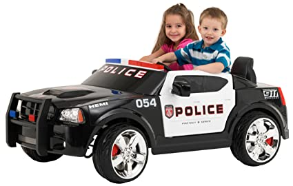 Battery Operated Ride On Toys >> Kid Trax Charger Police Car 12v Battery Powered Ride On Toy