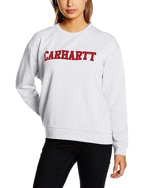 Carhartt W College Sweat - Sudadera Mujer, Gris (Ash Heather), ...