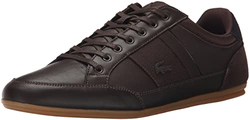 12705eac3ce5 Lacoste Men s Chaymon 116 1 Sneaker Dark Brown 10.5 D(M) US  Buy Online at  Low Prices in India - Amazon.in