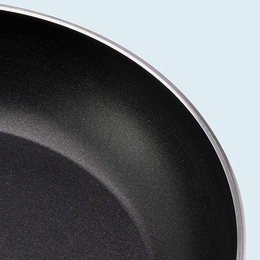 WMF Permadur Element Set de 3 sartenes de Acero Inoxidable de 20, 24 y 28 cm, con Antiadherente para Todo Tipo de cocinas Incluido inducción, Aluminio ...