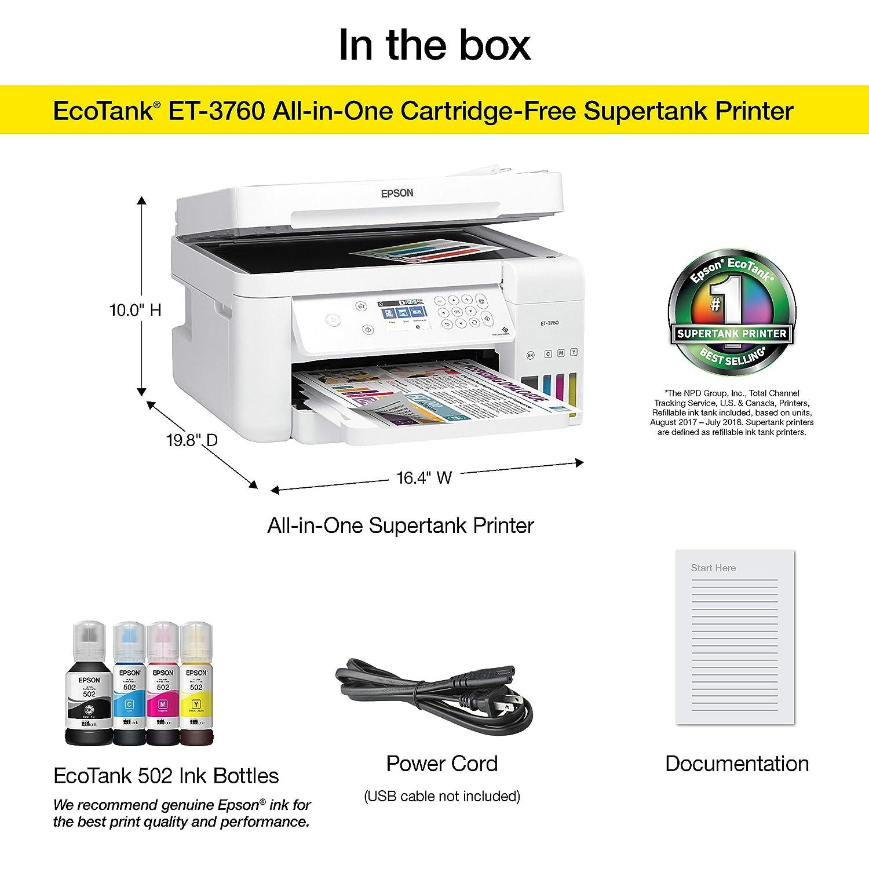 Amazon.com: Epson EcoTank ET-2760 Impresora multifunción ...