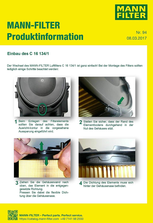FORD Focus Mk1 Air Filter Quality Mann /& Hummel