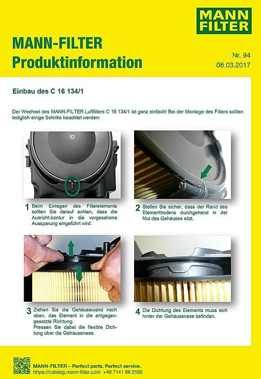 FORD Mondeo mk4 1.6 ti ORIGINALE MANN filtro aria del motore di ricambio