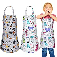 Kids Apron Kitchen Aprons with Pockets for Boys Girls Children Chef Aprons for Cooking Baking Painting