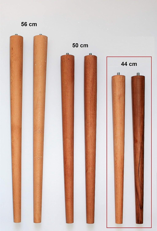 3 Verschiedene Gr/ö/ßen 4er Set Holz Tischbeine aus massivem Naturholz Schreibtisch /& mehr Couchtisch S 44cm perfekt geeignet f/ür Esstisch