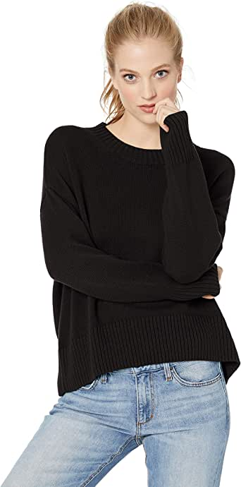 Amazon Brand - Daily Ritual Women's 100% Cotton Boxy Crewneck Pullover Sweater