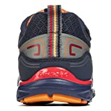 pediped Flex Force Athletic Sneaker (Toddler/Little Kid/Big Kid), Navy/Orange, 31 EU