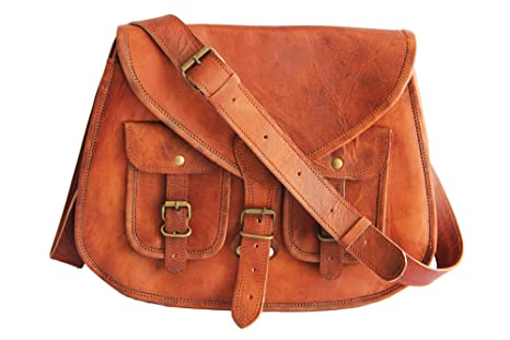 106688ec9bd5 Amazon.com  14 Inches Rugged- Chic Distressed Leather Women Sling ...