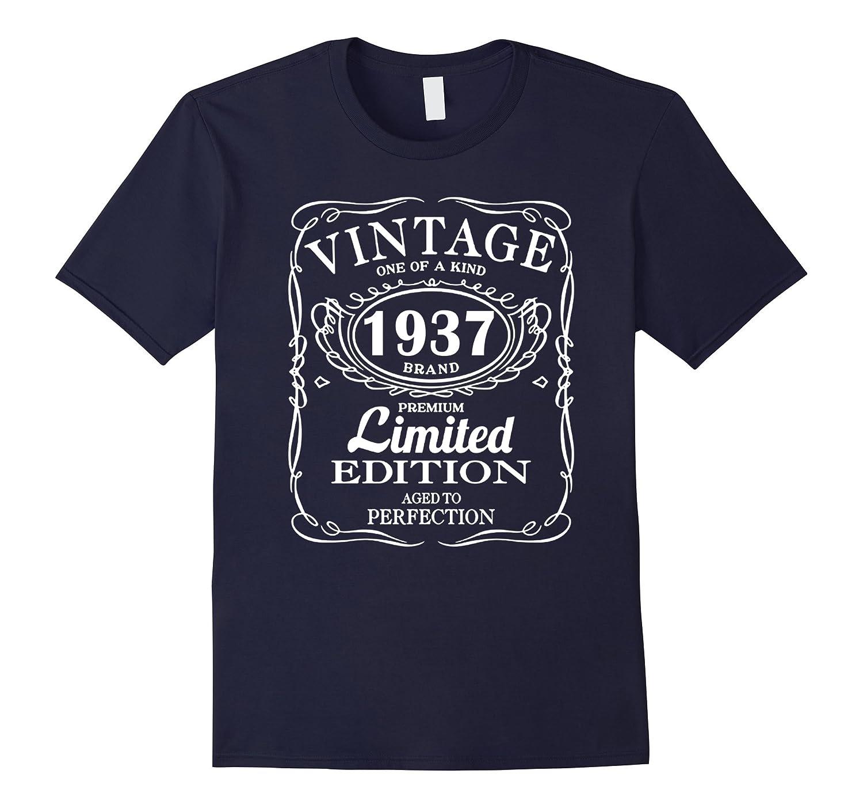 Vintage Born In 1937 80 Years Old Birthday Tshirt TD Teedep