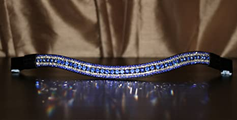 Equipride Beautiful V Shape Diamante Crystal Bling Browband Dressage 5 Row RED