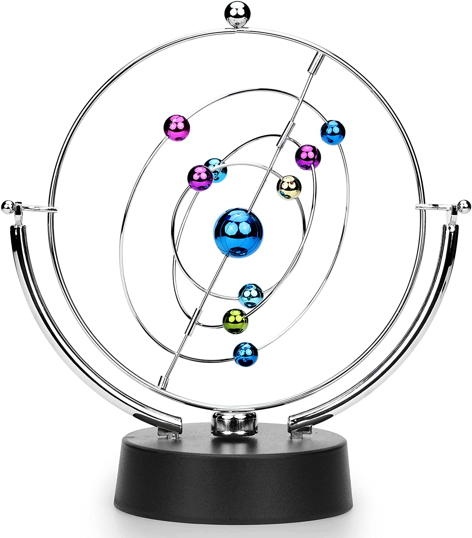 ScienceGeek Kinetic Art Asteroid - Electronic Perpetual Motion Desk Toy...