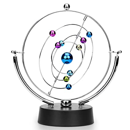 Sciencegeek Kinetic Art Asteroid Electronic Perpetual Motion Desk Toy Home Decoration