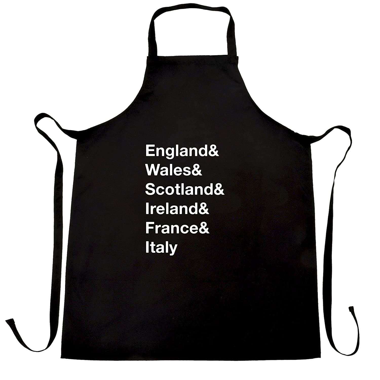 White apron ireland - Amazon Com England Wales Scotland Ireland Apron Six Nations Country Text Clothing