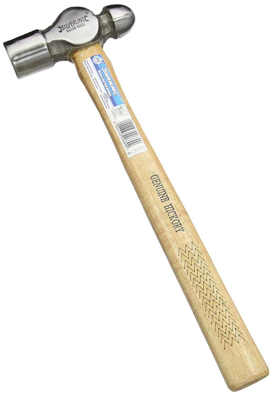 Silverline HA14B Ingenieurhammer mit Hickorystiel 113 g