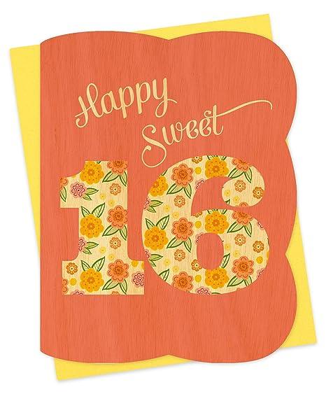 Amazon.com: Sweet 16 tarjeta de cumpleaños por Night Owl ...