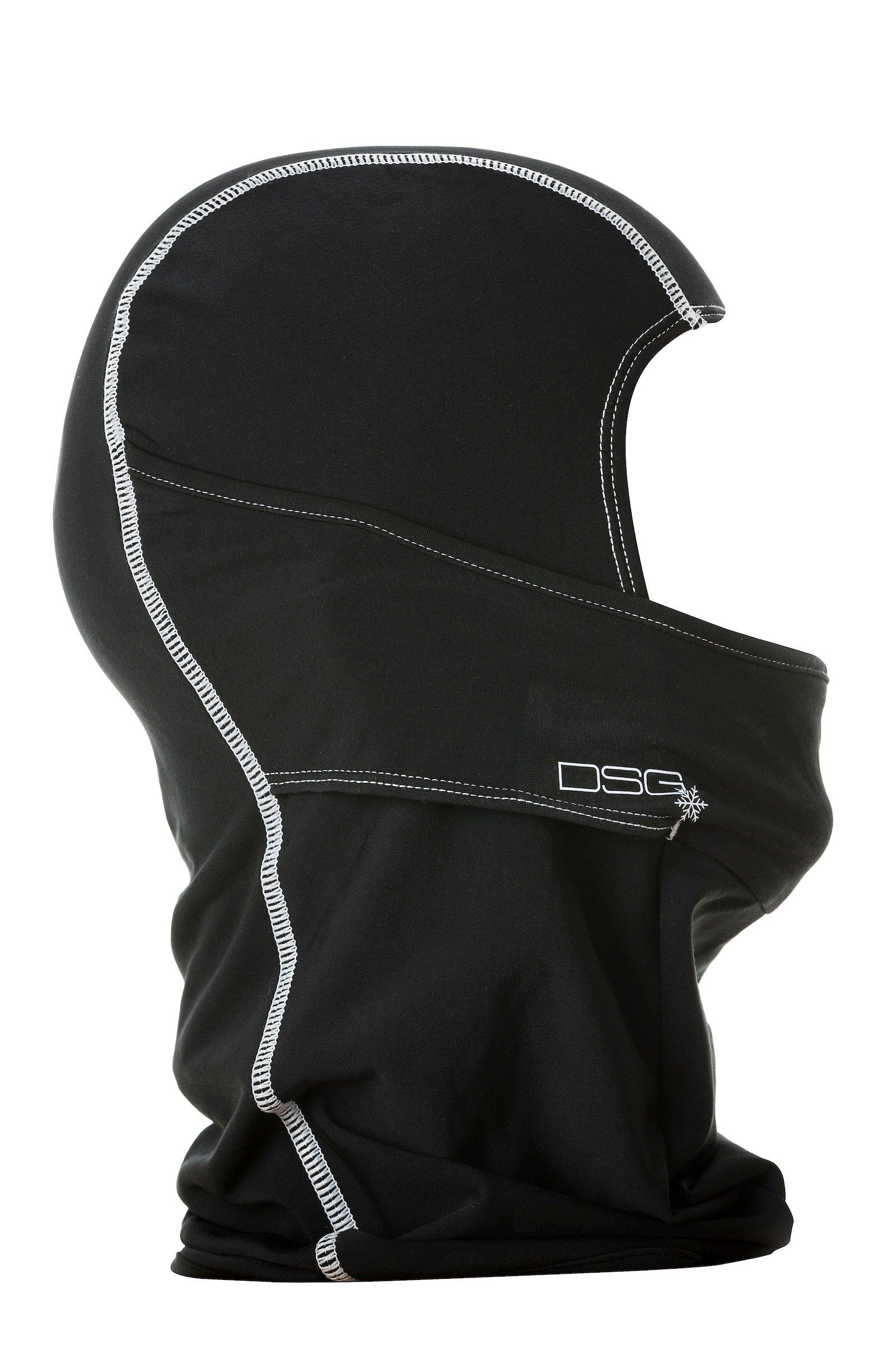 DSG Outerwear Women's Hinged Balaclava - Soft, Hinged Mouth, Moisture Wicking (Black/White)