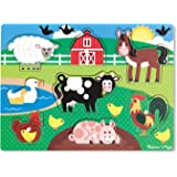 Melissa & Doug Farm Wooden Peg Puzzle (8 pcs)