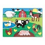 Melissa & Doug Farm Wooden Peg Puzzle (8 pcs)