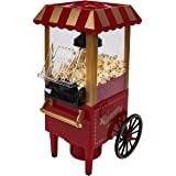 WICKED GIZMOS ®Red Electric 1200W Mini Carnival Fairground Popcorn Maker - Make Delicious Healthy Fat-Free Hot Air Popped Cinema Popcorn at Home in Just 3 Minutes - Simple and Easy to Use Machine