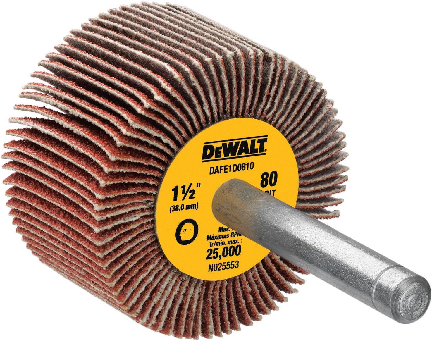 DEWALT DAFE1F1210 2-Inch by 1-Inch by 1//4-Inch HP 120g Flap Wheel