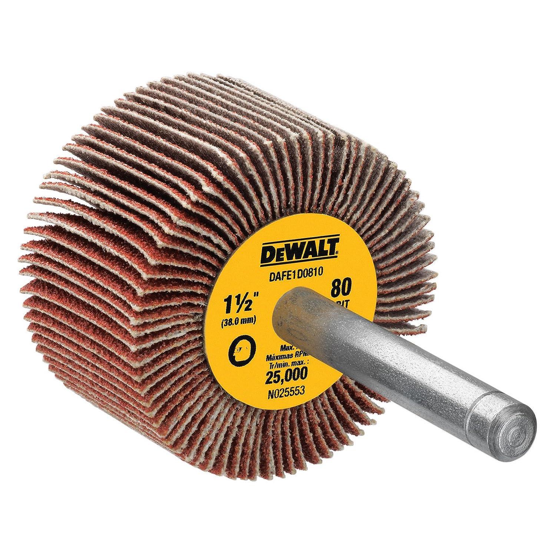 DEWALT DAFE1D0810 1 1/2-Inch by 1-Inch by 1/4-Inch HP 80g Flap Wheel