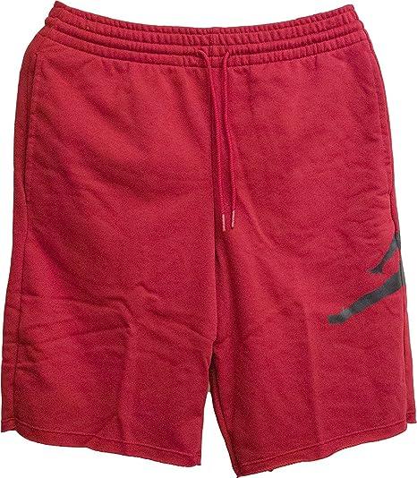 6b5af8cf576 Nike Jumpman Air FLC Short - Shorts, Men, Red (GYM RED/BLACK ...