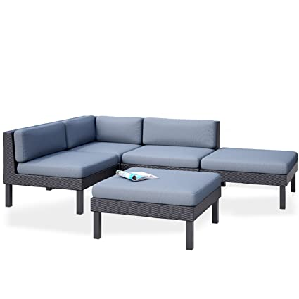 Amazon CorLiving PPO 801 Z Oakland 5 Piece Sectional With