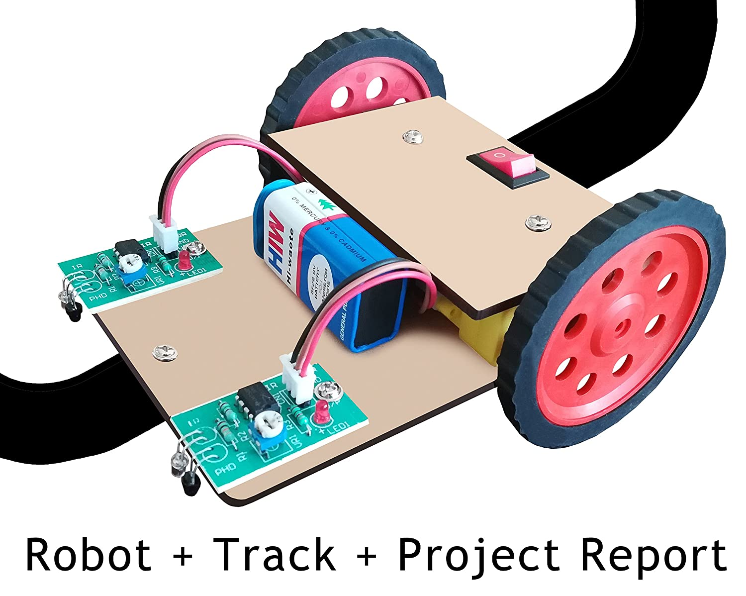 Buy Nasa Tech Line Tracker Following Robot With Track And Project 2 Transistor Follower Report Multicolour Online At Low Prices In India