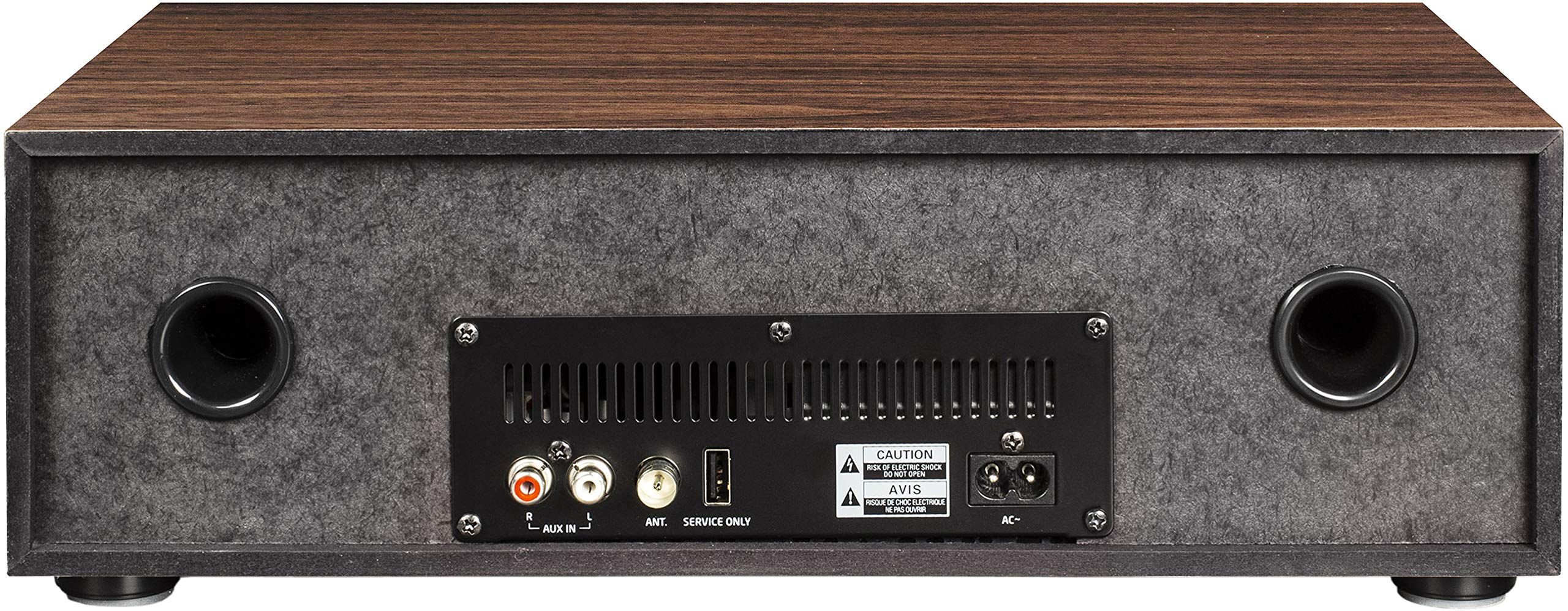 Crosley CR3501A-WA Fleetwood Bluetooth FM Clock Radio and CD Player, Walnut by Crosley (Image #4)