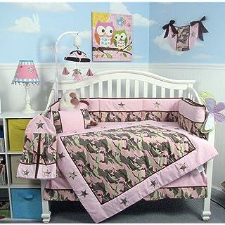 SoHo Baby Crib Bedding 10Pc Set, PinkCamo