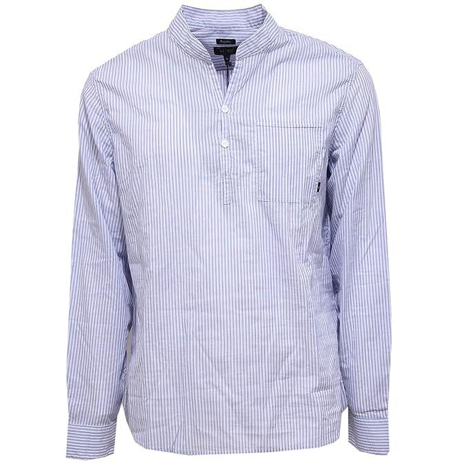 Armani 1454X Camicia uomo Jeans Regular Coreana Stripes Shirt Man: Amazon.es: Ropa y accesorios