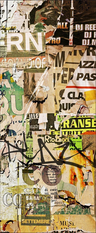 Sticker autocollant frigo Tag Graffiti 70x170cm SAEFR0033 (Fond Blanc) PPA-DESIGN