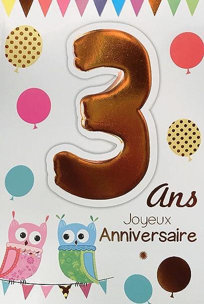 Age MV 69 - 2003 tarjeta cumpleaños 3 años infantil niño ...