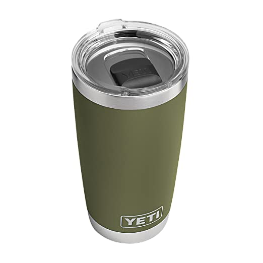 YETI Rambler 20 oz Stainless Steel Vacuum Insulated Tumbler w/ MagSlider Lid, Olive Green