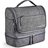 (Gray) - Toiletry Bag Hanging Travel Toiletry Organiser Kit with Hook and Handle Waterproof Cosmetic Bag Dop Kit for Men or Women (Grey)