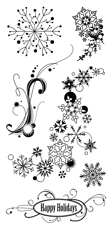Inkadinkado Snowflakes Clear Stamps EKS 98209