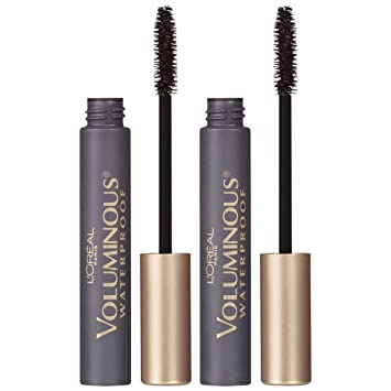 LOreal Paris Makeup Voluminous Original Volume Building Waterproof Mascara, Black, 2 Pack