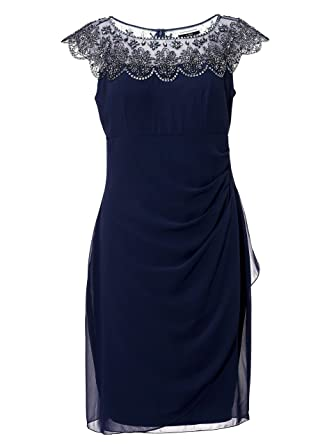wholesale dealer 6b531 e7432 Kleid Cocktail Party Pailletten Guido Maria Kretschmer blau ...