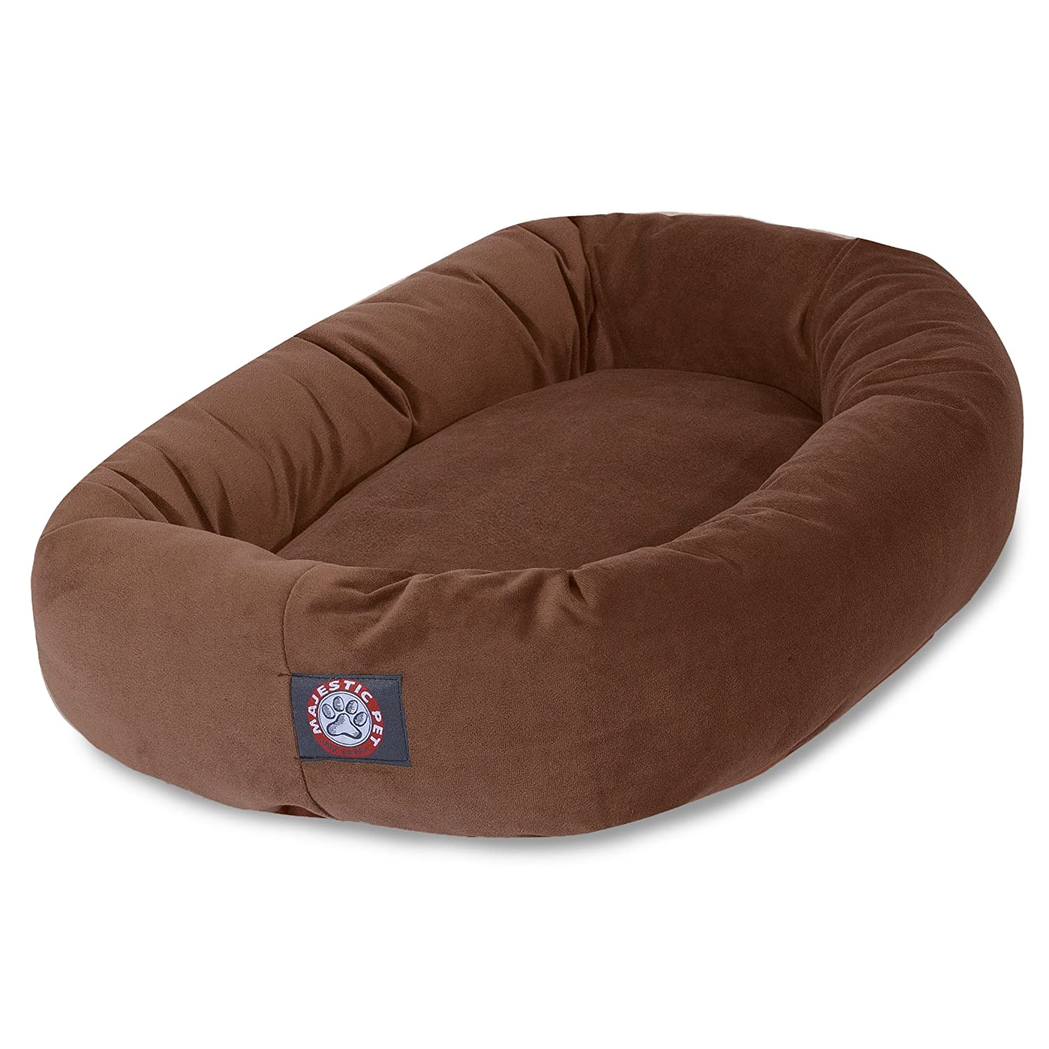 Rust 40-Inch Rust 40-Inch Majestic Pet 40 Inch Rust Suede Bagel Dog Bed By Products