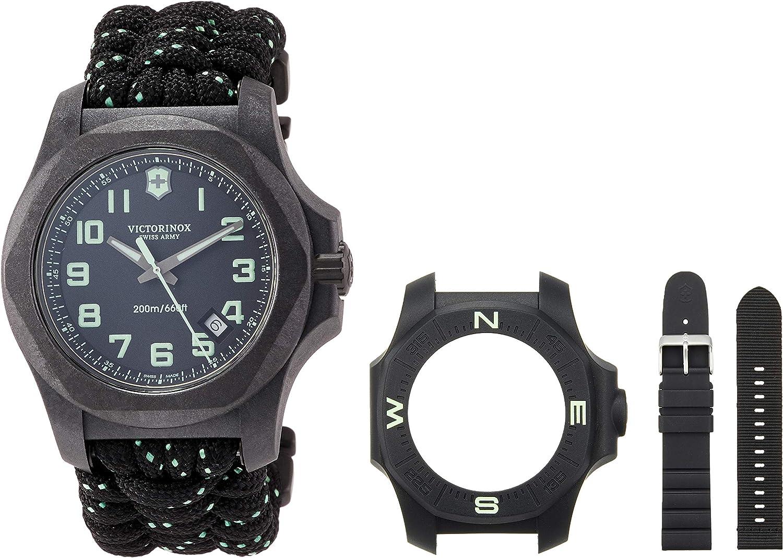 Victorinox Hombre I.N.O.X. Carbon - Reloj de Acero al Carbono de Cuarzo analógico de fabricación Suiza 241859