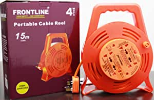 Frontline Portable Cable Reel 4way 15M