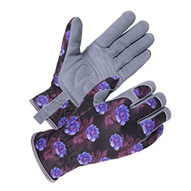 SKYDEER Womens Garden Gloves with Deerskin Leather Suede Gardening Fit for Rose Pruning and Daily Work