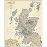 Scotland Classic, Laminated: Wall Maps Countries & Regions